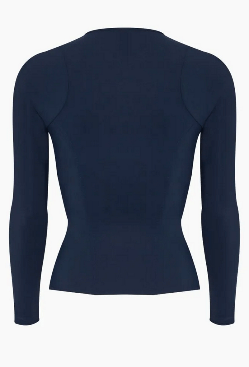 Womens INK blue long sleeve rash guard
