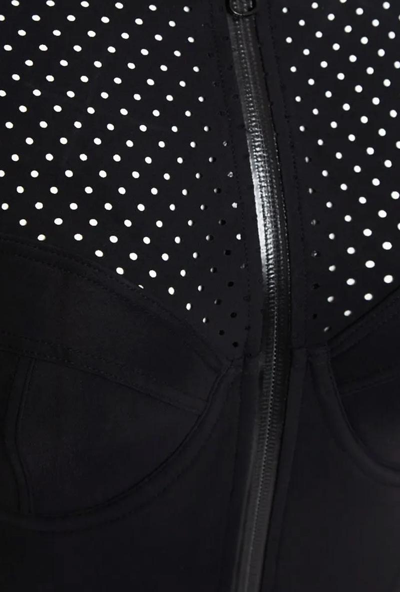 Black one-piece swimsuit