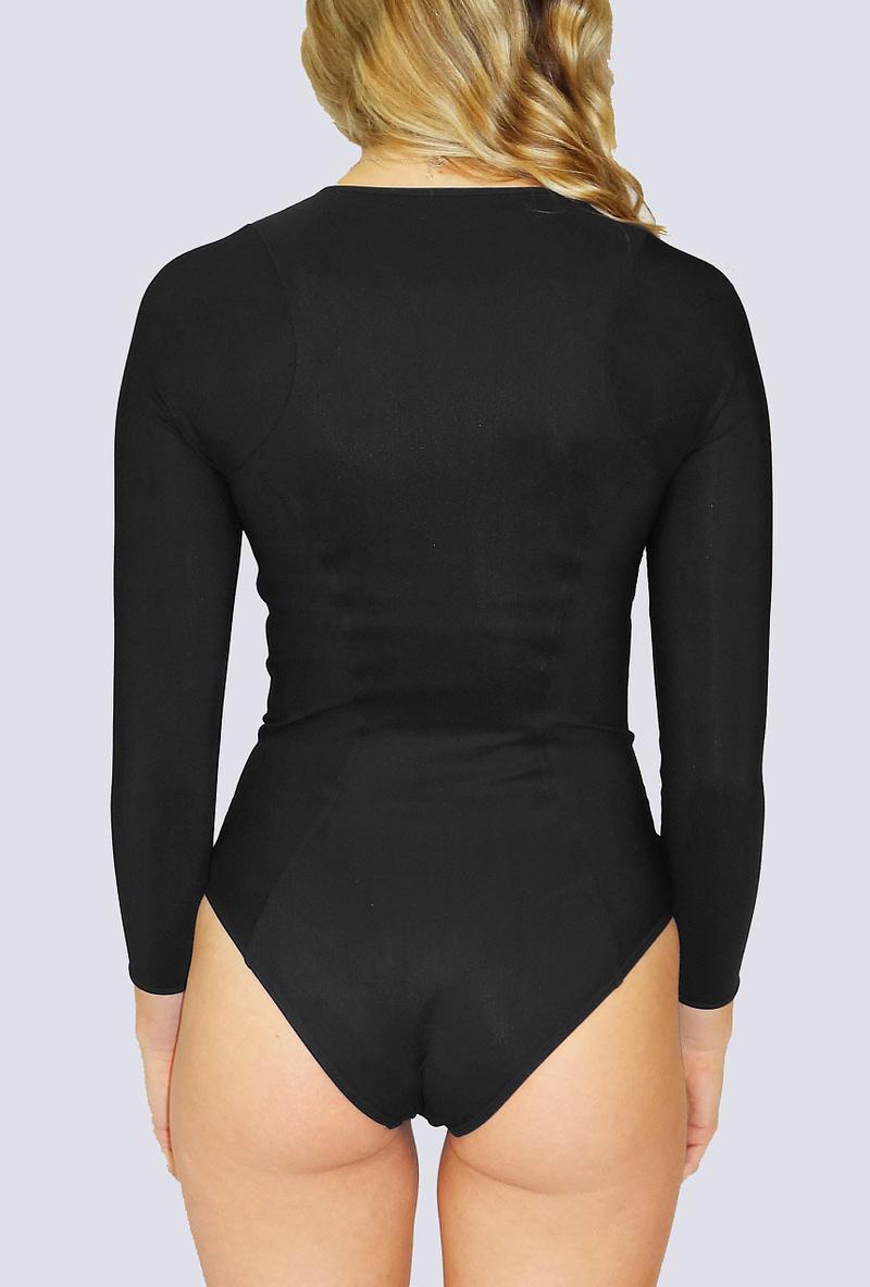 long sleeve one piece swimsuit, sun protection, underwire rash guard, sunsafe